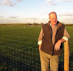 Mark Bowsher-Gibbs who manages 3000 acres near Sittingbourne, Kent